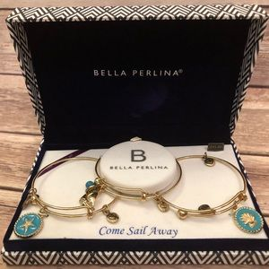 Bella Perlina Gold Tone Sail Away 3 Bracelet Set
